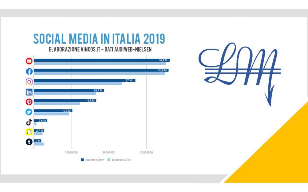 SOCIAL MEDIA IN ITALIA NEL 2019